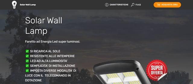 Solar Wall Lamp faretto led solare